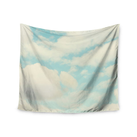 "Sylvia Cook ""Clouds"" Blue White Wall Tapestry - KESS InHouse  - 1"