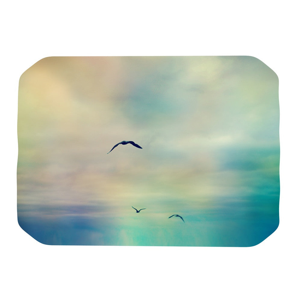 "Sylvia Cook ""Freedom"" Birds Sky Place Mat - KESS InHouse"