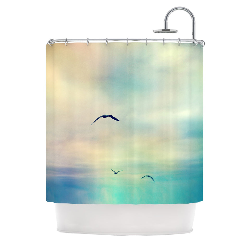 "Sylvia Cook ""Freedom"" Birds Sky Shower Curtain - KESS InHouse"