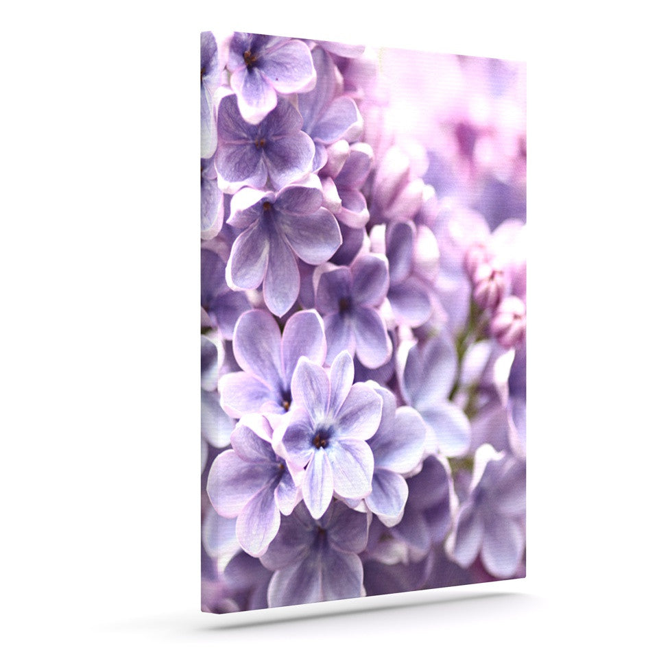 "Sylvia Cook ""Lilac"" Purple Flowers Outdoor Canvas Wall Art - KESS InHouse  - 1"