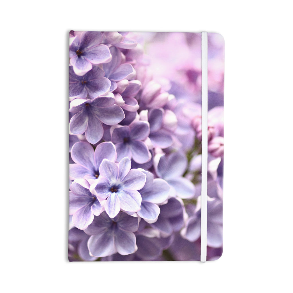 "Sylvia Cook ""Lilac"" Purple Flowers Everything Notebook - KESS InHouse  - 1"
