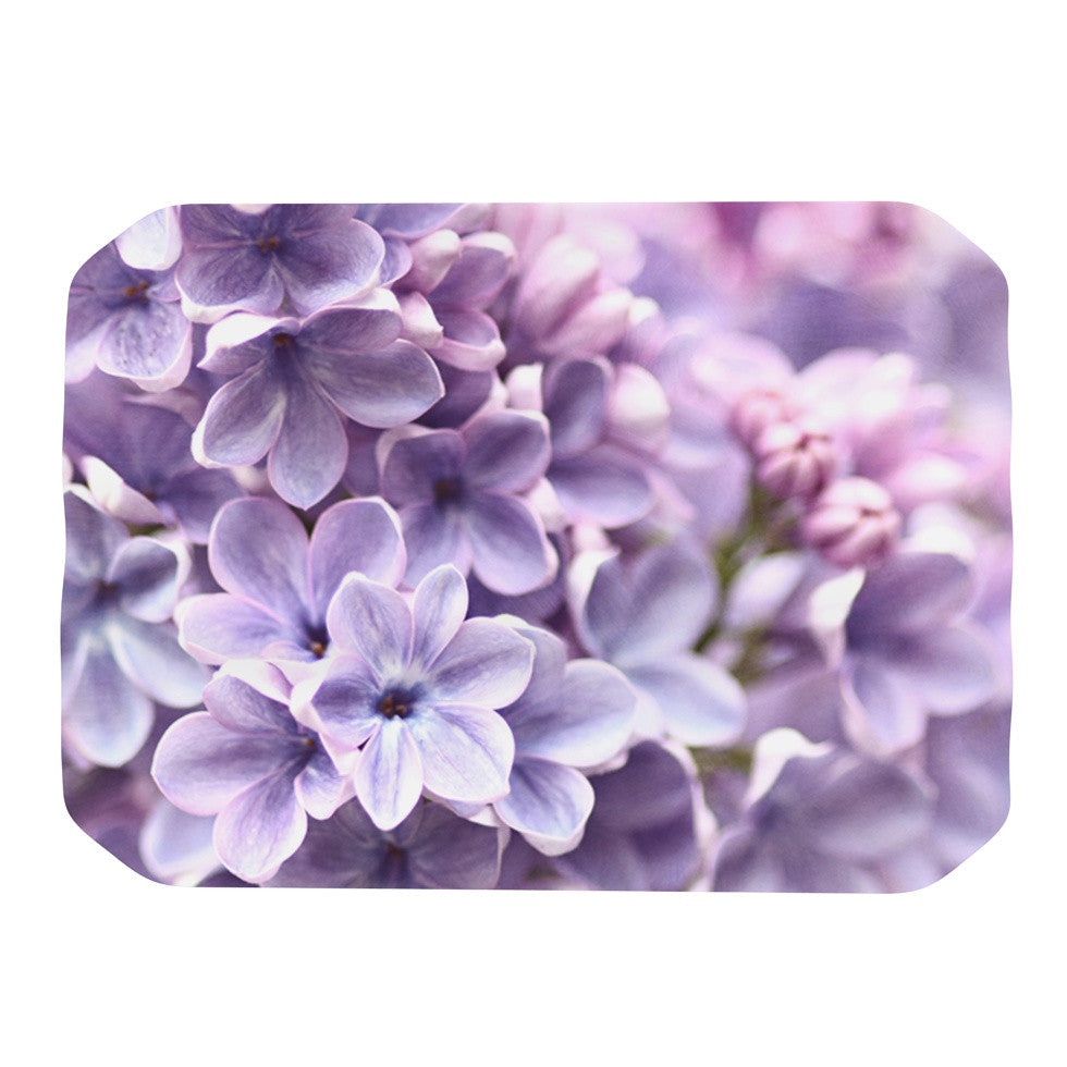 "Sylvia Cook ""Lilac"" Purple Flowers Place Mat - KESS InHouse"