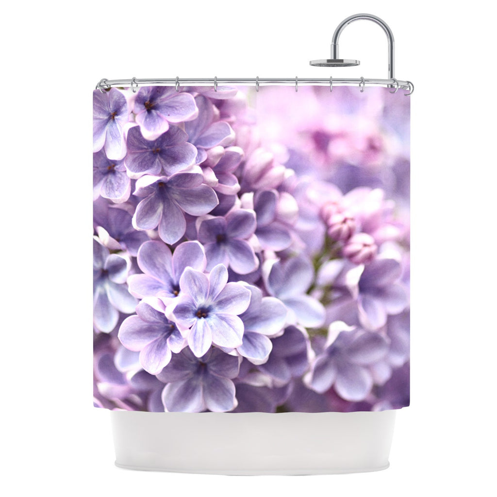 Lilac By Sylvia Cook Shower Curtain
