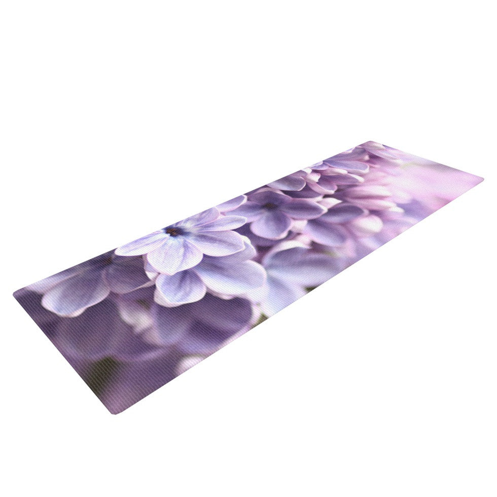 "Sylvia Cook ""Lilac"" Purple Flowers Yoga Mat - KESS InHouse  - 1"