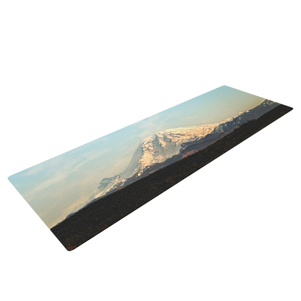 "Sylvia Cook ""Mt. Rainier"" Mountain Photo Yoga Mat - KESS InHouse  - 1"