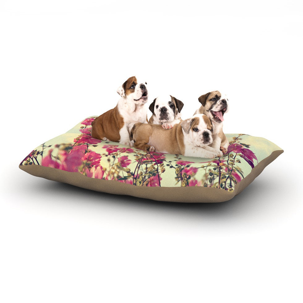 "Sylvia Cook ""Pink Lavatera"" Flowers Sky Dog Bed - KESS InHouse  - 1"