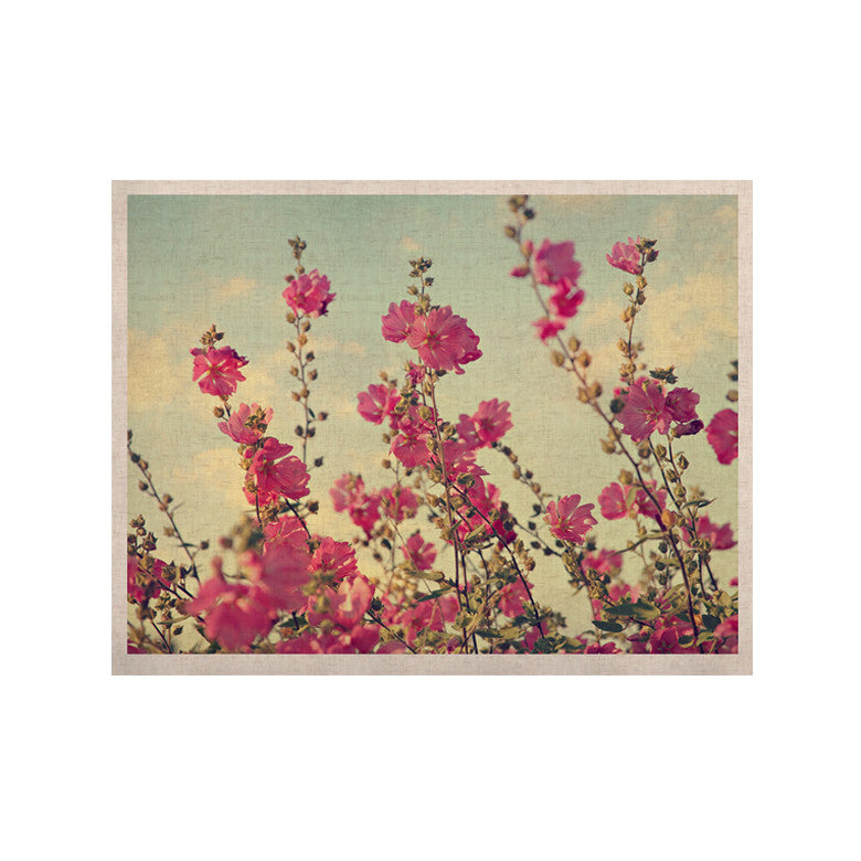 "Sylvia Cook ""Pink Lavatera"" Flowers Sky KESS Naturals Canvas (Frame not Included) - KESS InHouse  - 1"