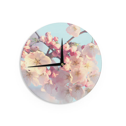 "Sylvia Cook ""Waiting for Spring"" Pink Blue Wall Clock - KESS InHouse"