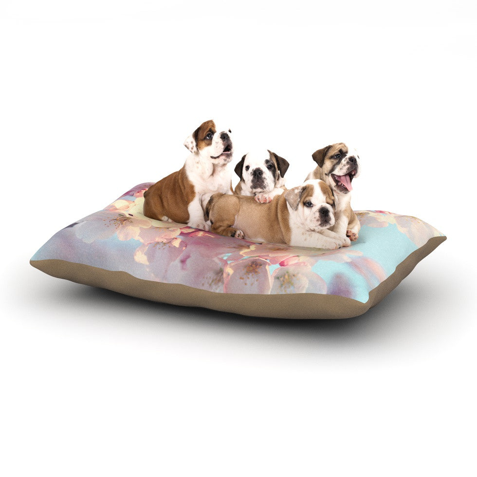 "Sylvia Cook ""Waiting for Spring"" Pink Blue Dog Bed - KESS InHouse  - 1"