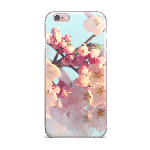 "Sylvia Cook ""Waiting for Spring"" Pink Blue iPhone Case - KESS InHouse"