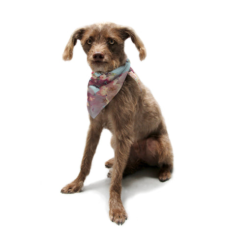 "Sylvia Cook ""Waiting for Spring"" Pink Blue Pet Bandana - KESS InHouse  - 1"