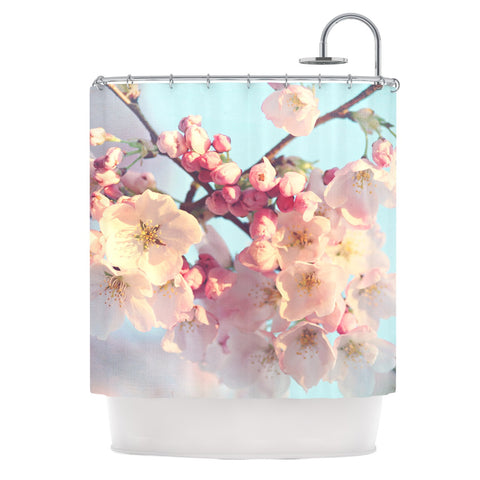 "Sylvia Cook ""Waiting for Spring"" Pink Blue Shower Curtain - KESS InHouse"