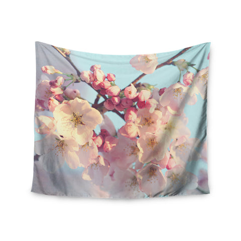"Sylvia Cook ""Waiting for Spring"" Pink Blue Wall Tapestry - KESS InHouse  - 1"