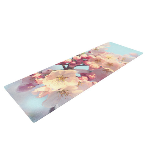 "Sylvia Cook ""Waiting for Spring"" Pink Blue Yoga Mat - KESS InHouse  - 1"