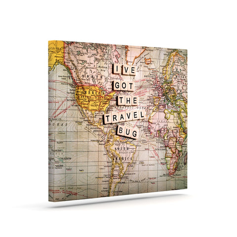 "Sylvia Cook ""Travel Bug"" Map Canvas Art - KESS InHouse  - 1"