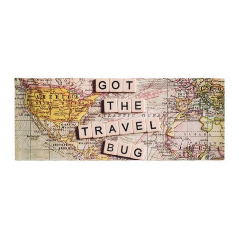 "Sylvia Cook ""Travel Bug"" Map Bed Runner - KESS InHouse"