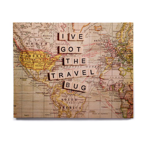 "Sylvia Cook ""Travel Bug"" Map Birchwood Wall Art - KESS InHouse  - 1"