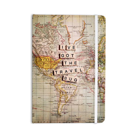 "Sylvia Cook ""Travel Bug"" Map Everything Notebook - KESS InHouse  - 1"