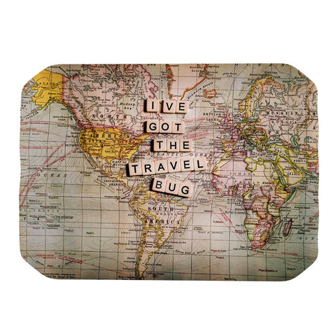 "Sylvia Cook ""Travel Bug"" Map Place Mat - KESS InHouse"