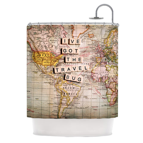 "Sylvia Cook ""Travel Bug"" Map Shower Curtain - KESS InHouse"