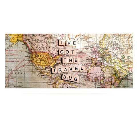 "Sylvia Cook ""Travel Bug"" Map Luxe Rectangle Panel - KESS InHouse  - 1"