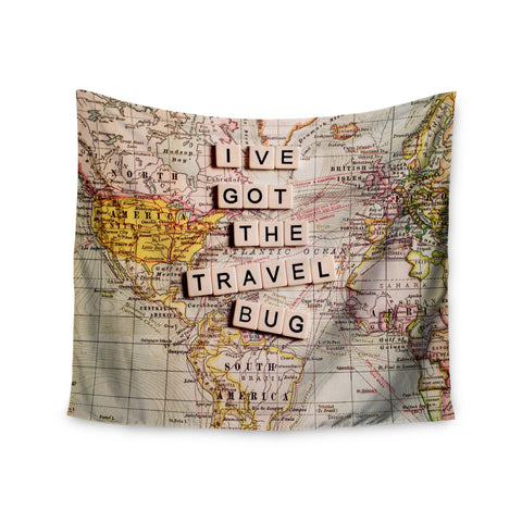 "Sylvia Cook ""Travel Bug"" Map Wall Tapestry - KESS InHouse  - 1"