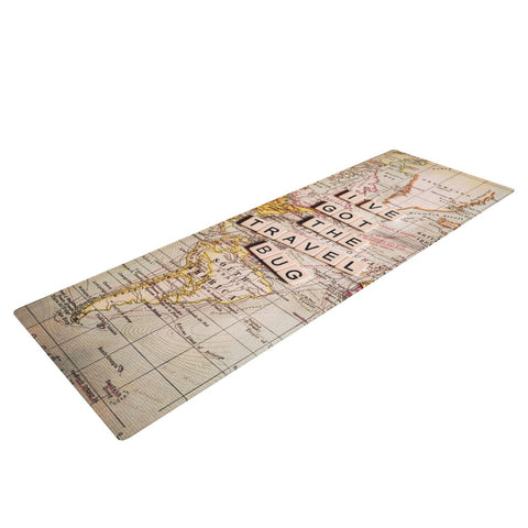 "Sylvia Cook ""Travel Bug"" Map Yoga Mat - KESS InHouse  - 1"