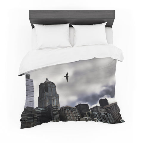 "Sylvia Cook ""Seattle Skyline"" City Clouds Featherweight Duvet Cover"