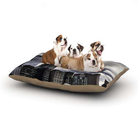 "Sylvia Cook ""Seattle Skyline"" City Clouds Dog Bed - KESS InHouse  - 1"
