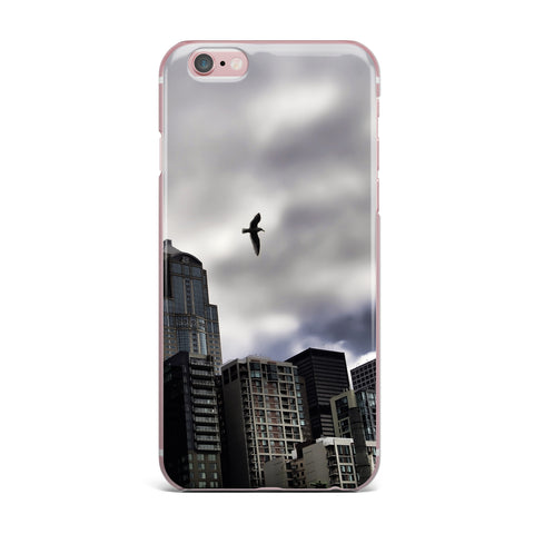 "Sylvia Cook ""Seattle Skyline"" City Clouds iPhone Case - KESS InHouse"