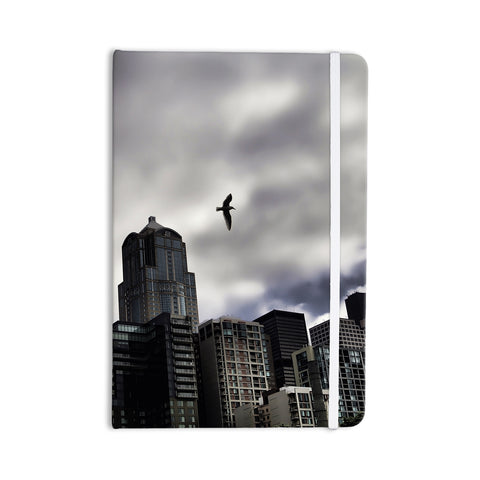 "Sylvia Cook ""Seattle Skyline"" City Clouds Everything Notebook - KESS InHouse  - 1"
