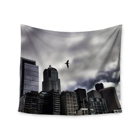 "Sylvia Cook ""Seattle Skyline"" City Clouds Wall Tapestry - KESS InHouse  - 1"