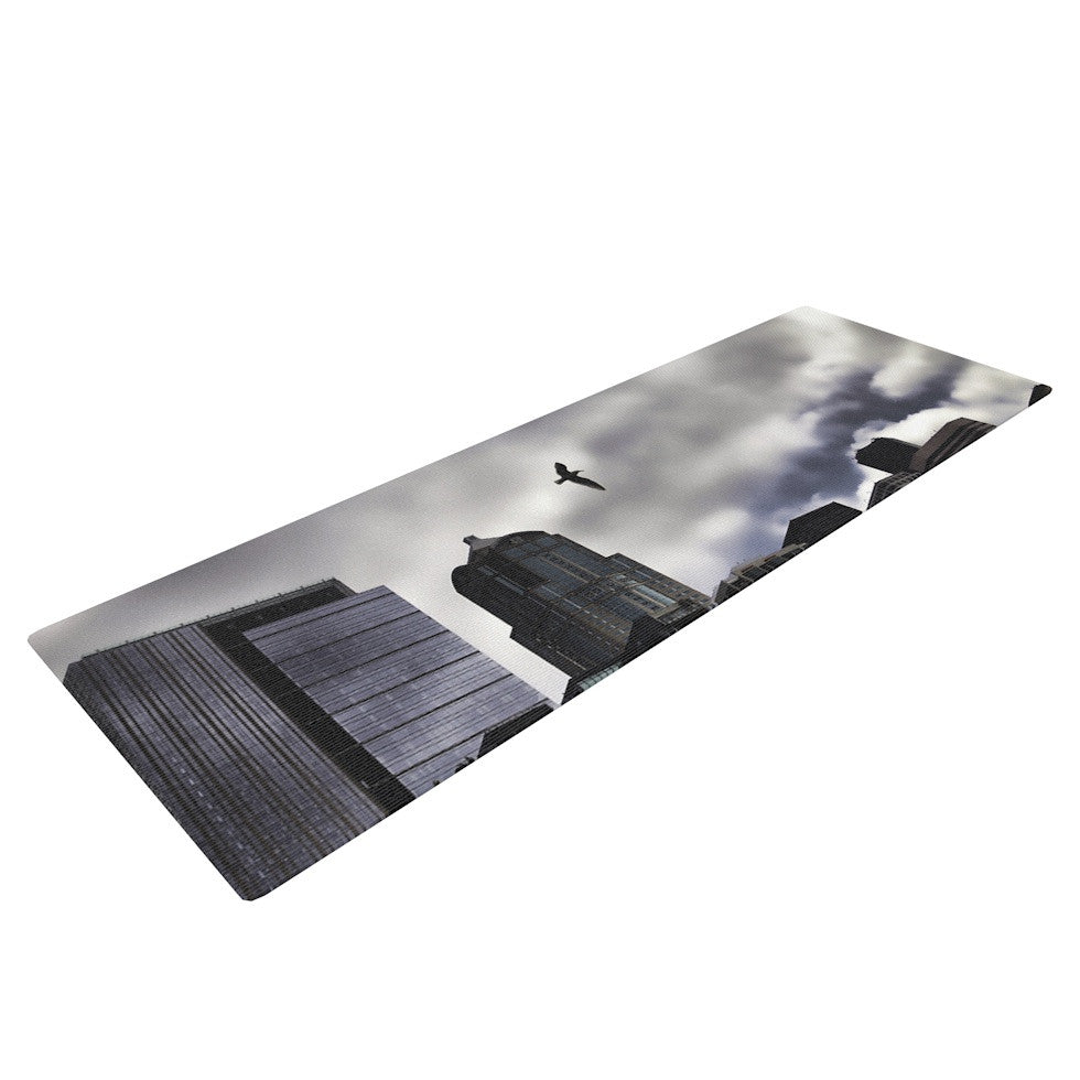 "Sylvia Cook ""Seattle Skyline"" City Clouds Yoga Mat - KESS InHouse  - 1"