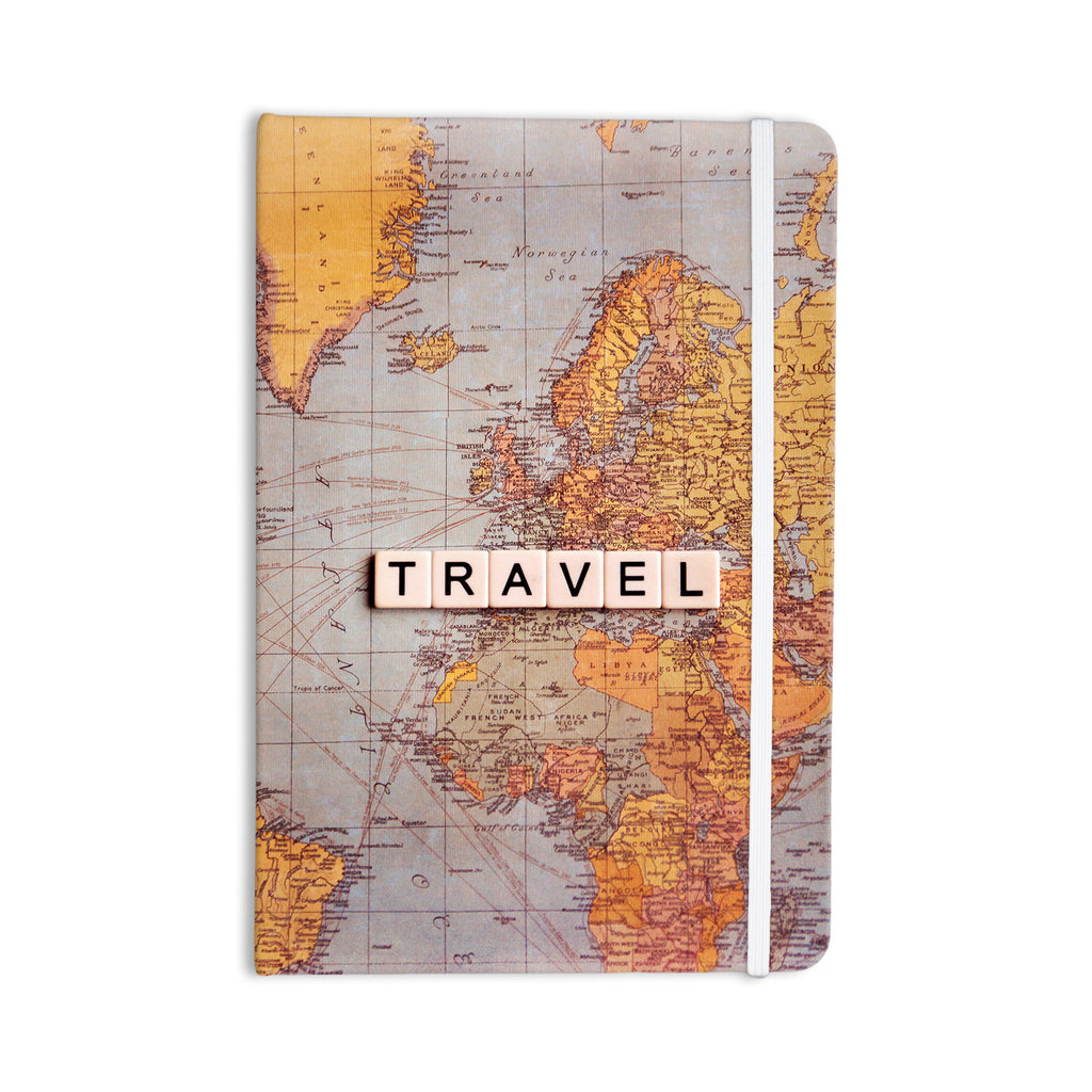 "Sylvia Cook ""Travel Map"" World Everything Notebook - KESS InHouse  - 1"