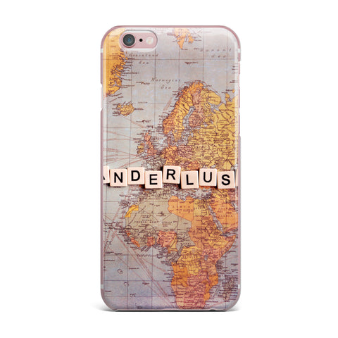 "Sylvia Cook ""Wanderlust Map"" World iPhone Case - KESS InHouse"
