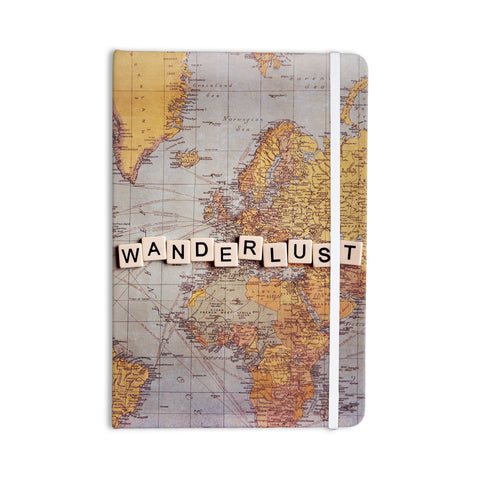 "Sylvia Cook ""Wanderlust Map"" World Everything Notebook - KESS InHouse  - 1"