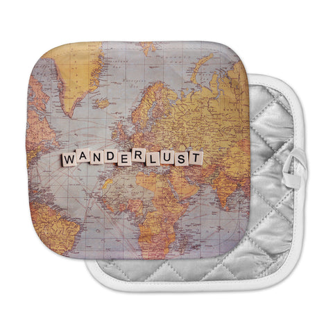 "Sylvia Cook ""Wanderlust Map"" World Pot Holder"