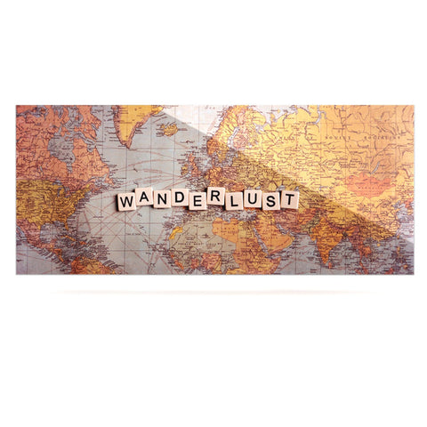 "Sylvia Cook ""Wanderlust Map"" World Luxe Rectangle Panel - KESS InHouse  - 1"