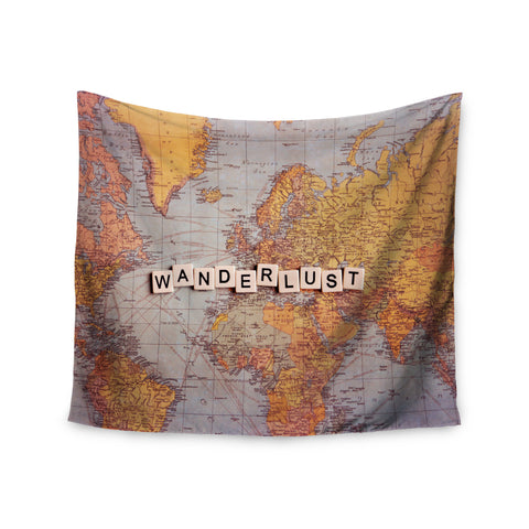 "Sylvia Cook ""Wanderlust Map"" World Wall Tapestry - KESS InHouse  - 1"