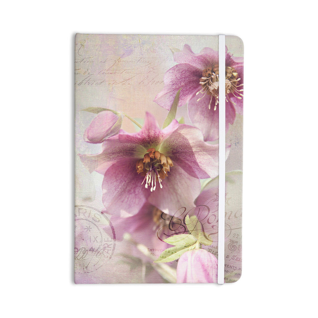 "Sylvia Cook ""Hellabore"" Pink Petals Everything Notebook - KESS InHouse  - 1"