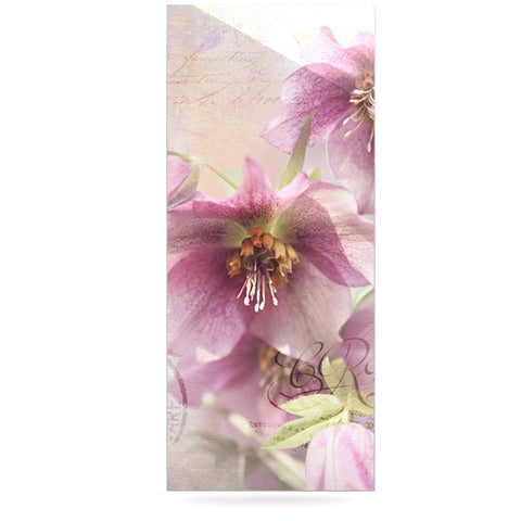 "Sylvia Cook ""Hellabore"" Pink Petals Luxe Rectangle Panel - KESS InHouse  - 1"