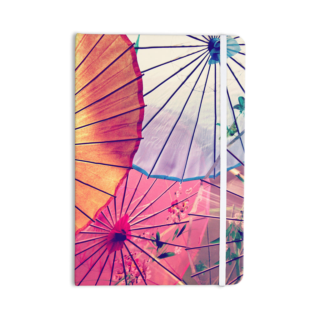 "Sylvia Cook ""Colorful Umbrellas"" Multicolor Everything Notebook - KESS InHouse  - 1"