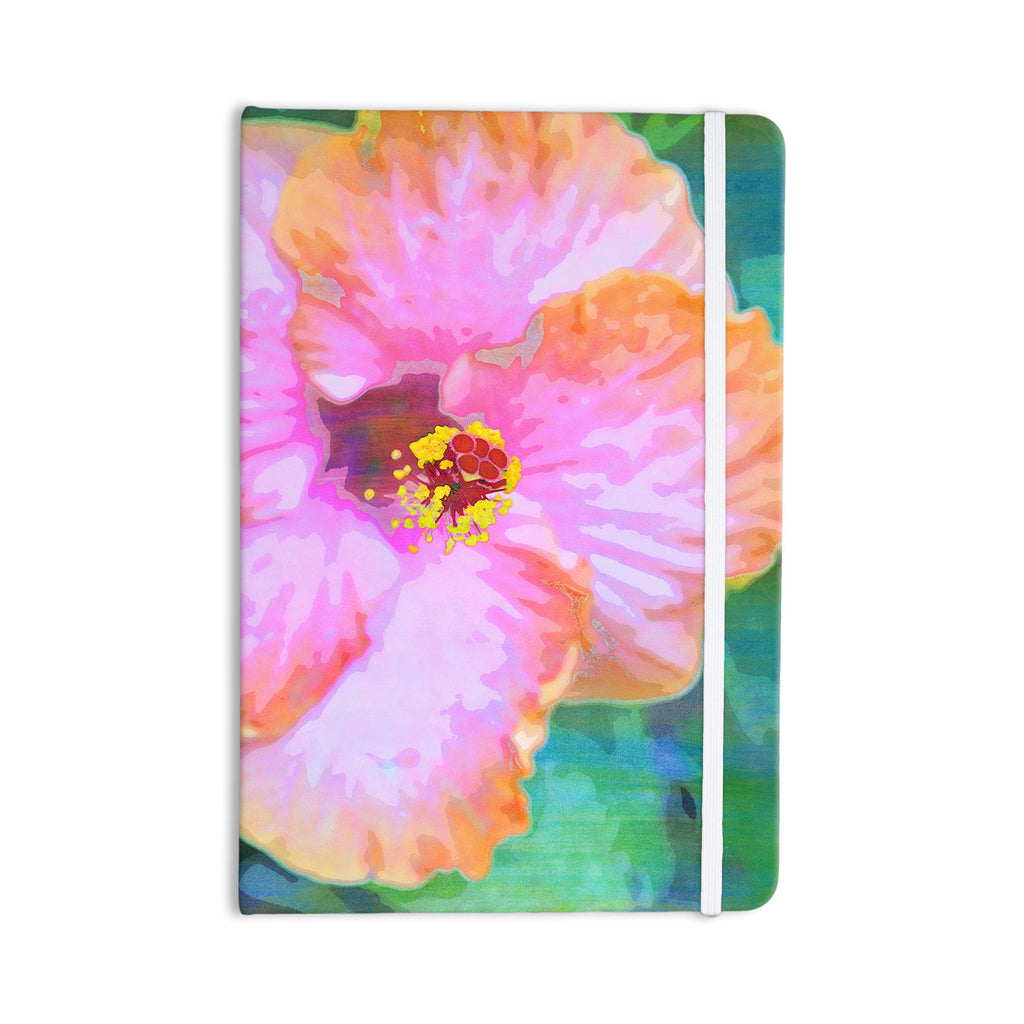 "Sylvia Cook ""Hibiscus"" Green Pink Everything Notebook - KESS InHouse  - 1"
