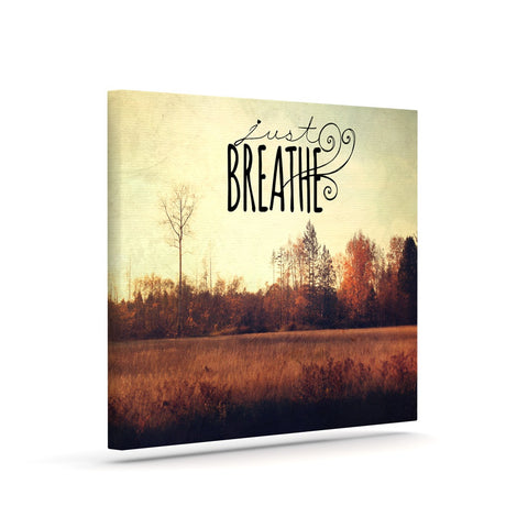 "Sylvia Cook ""Just Breathe"" Brown Tan Canvas Art - KESS InHouse  - 1"