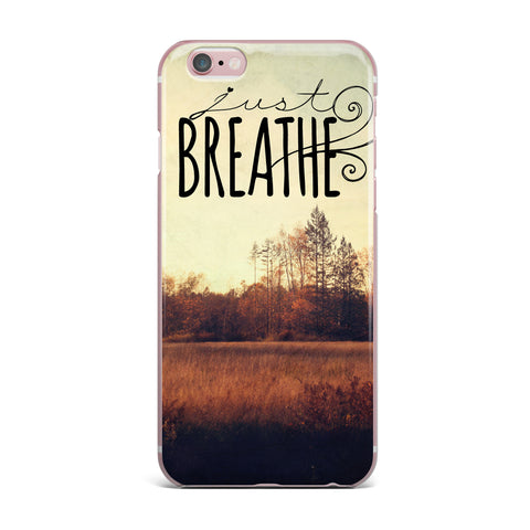 "Sylvia Cook ""Just Breathe"" Brown Tan iPhone Case - KESS InHouse"