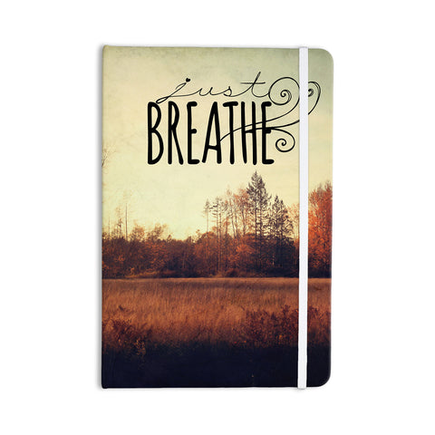 "Sylvia Cook ""Just Breathe"" Brown Tan Everything Notebook - KESS InHouse  - 1"