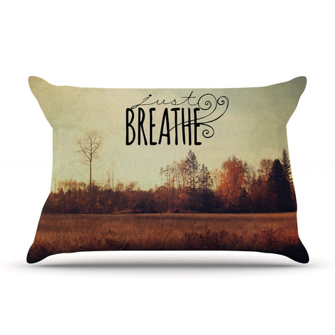 "Sylvia Cook ""Just Breathe"" Brown Tan Pillow Sham - KESS InHouse"