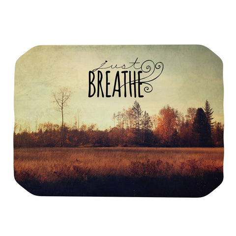 "Sylvia Cook ""Just Breathe"" Brown Tan Place Mat - KESS InHouse"