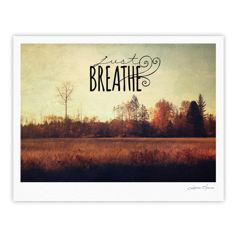 "Sylvia Cook ""Just Breathe"" Brown Tan Fine Art Gallery Print - KESS InHouse"