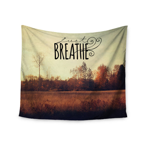 "Sylvia Cook ""Just Breathe"" Brown Tan Wall Tapestry - KESS InHouse  - 1"